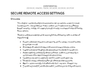 Security Guidelines - Remote Access (© 2013 Panda Rose, ARR)