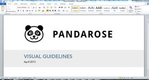 Panda Rose Visual Guidelines (© 2013 Panda Rose, ARR)